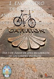 Concentraccion bicis antiguas en Carrion de los Condes (Palencia)