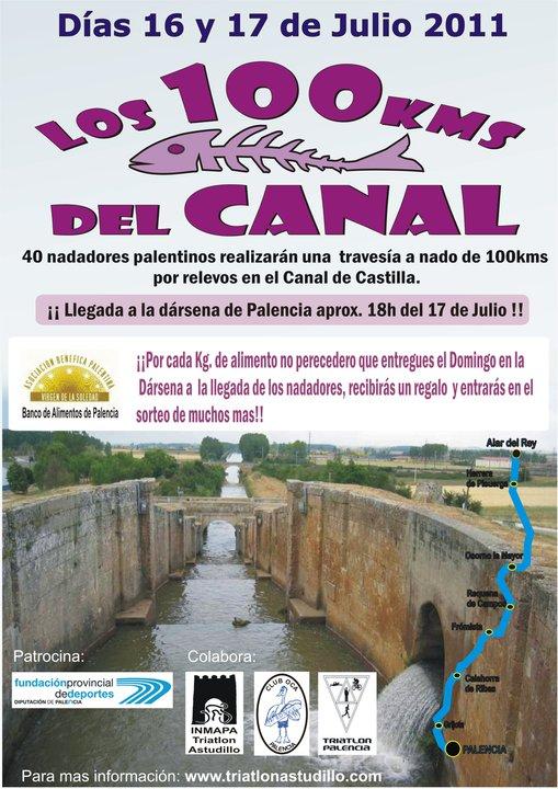 Natación en el Canal de Castilla