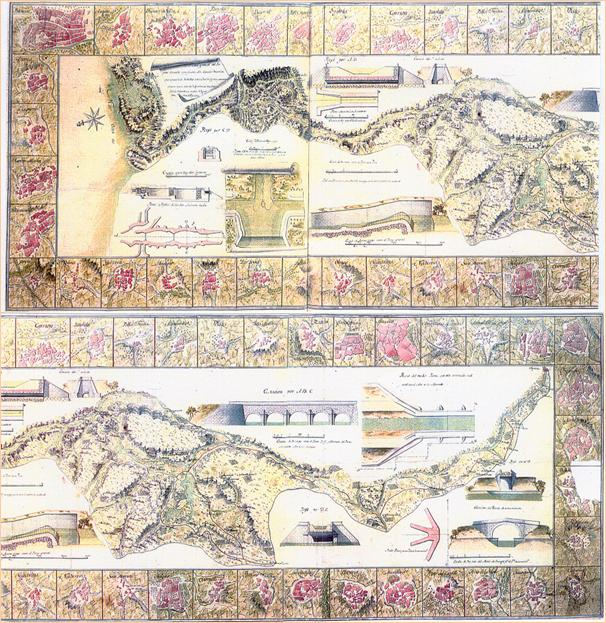 Plano general del Canal de Castilla