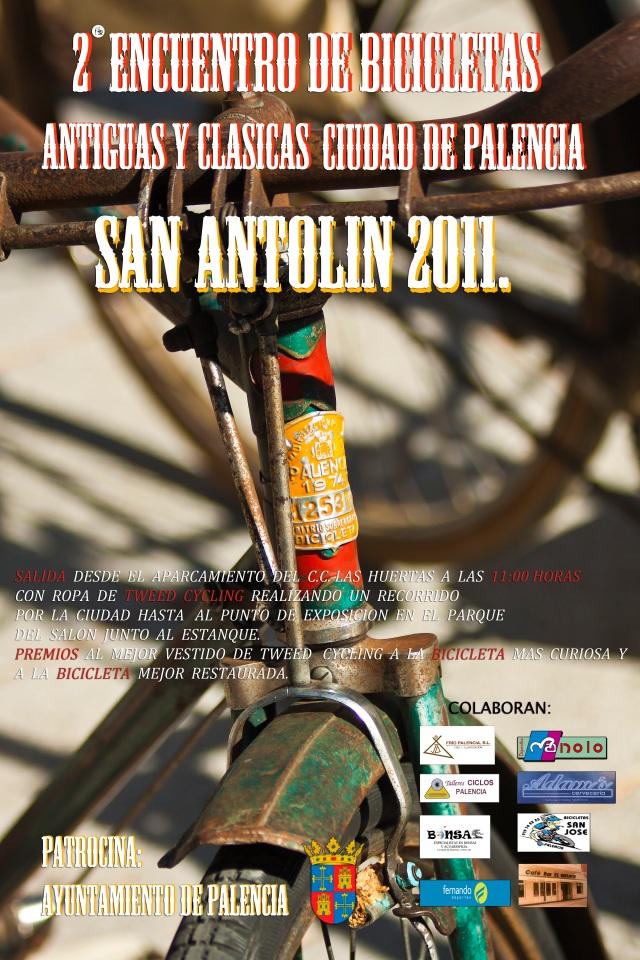 Encuentro de bicis clásicas y antiguas en Palencia, 28 agosto 2011